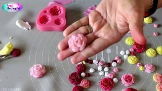 طريقة عمل الورود بعجين السكر