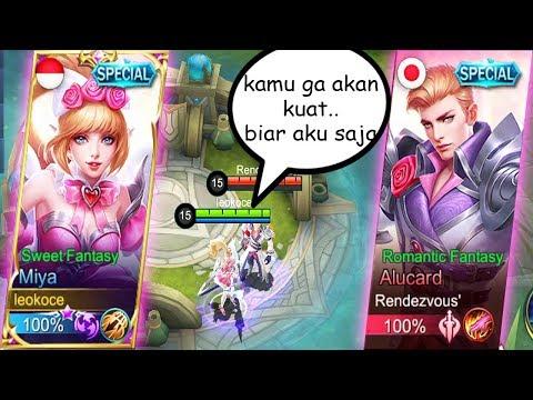LUCU MIYA VALENTINE VS ALUCARD VALENTINE KAMU GA AKAN KUAT MAMANK Mobile Legends Indonesia