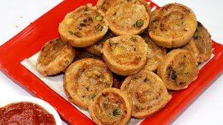 आटे और आलू का इतना कुरकुरा और आसान नाश्ता जो झटपट बन जाए   Pinweel Samosa/Bhakadwadi - Nasta Recipe