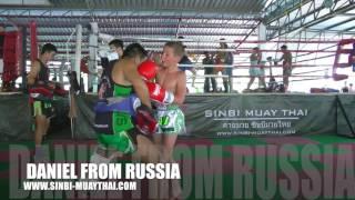 10 year old Daniel from Russia training at Sinbi Muay Thai