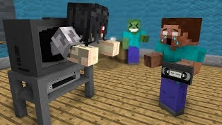 Monster School: The Ring HORROR GAME CHALLENGE - Minecraft Animation