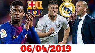 ريال مدريد يتفوق على برشلونة ويحسم صفقة يوفيتش / موقف ديمبلي من المشاركة أمام أتلتيكو مدريد