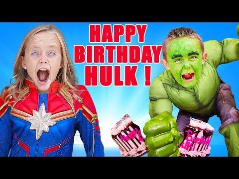 Superhero Birthday Party Surprise Jokes on Hulk Kids Fun TV