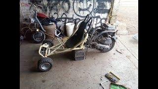 (RAYS AUTO VIDS #4) Building a 100cc Honda Mo-Kart (Half Moped Half Go-Kart)