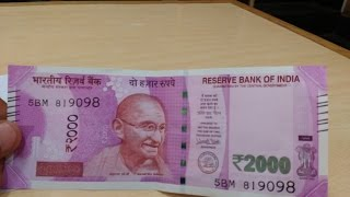 Amazing Indian Currency Rs.2000 Note - Waterproof/Fire Proof/Color Fade -  Five TORTURE TESTS