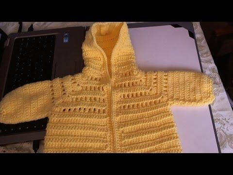 Easy to Crochet Baby Hoodie Sweater -  Video 1 - Yolanda Soto Lopez