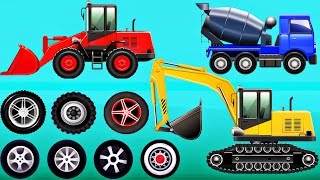 Build Construction Machines : Excavator, Bulldozer, Concrete Mixer Trucks - Videos for Children