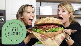 DEV Hamburger Yapımı | Esen Blake ile Hamburger Tarifi | İdil Yazar ile Yemek Tarifleri