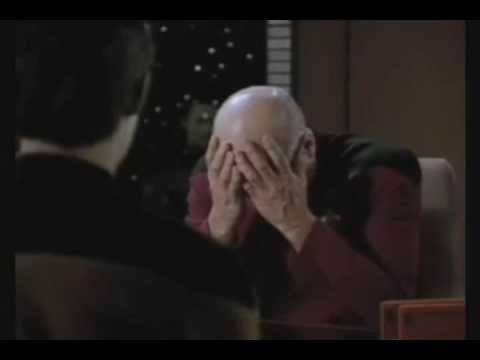 Picard's Epic Double Facepalm