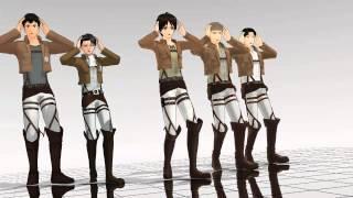 SNK Attack on Titan Gigantic O.T.N  MMD (Eren, Levi, Jean, Marco, Bertholdt)