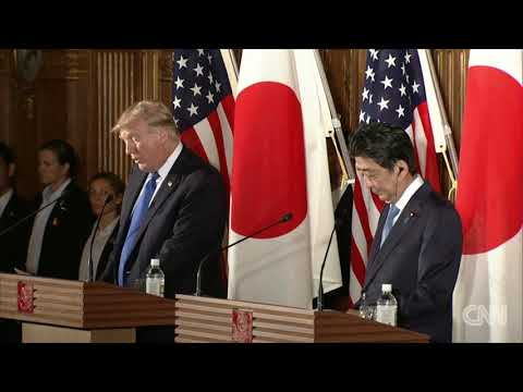 Shinzo Abe Donald Trump hold joint press conference full