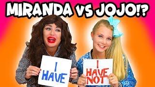 JoJo Siwa vs Miranda Sings? Never Have I Ever. Totally TV
