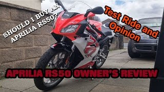 [ENGLISH] Aprilia RS50 50cc Sportbike Review, Test Ride and Owners Opinion