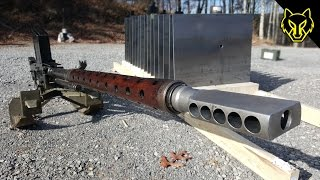 20mm Anti Tank Lahti vs 16 Steel Plates! slow motion