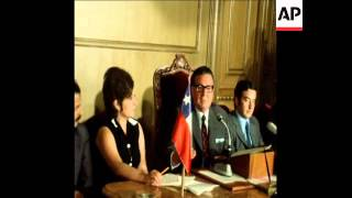 SYND 3-3-73 PRESIDENT ALLENDE AT ELECTION CAMPAIGN PRESS CONFERENCE