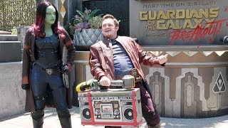 Guardians Of The Galaxy Awesome Dance Off! with Star-Lord and Gamora at Disney California Adventure