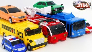 Carbot Rescue Police Public Bus School Bus FireTruck Ambulance Vehicle Transfomers Robot Car Toys