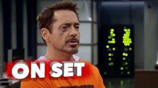 Marvel's Captain America: Civil War: Behind the Scenes Set Visit - Robert Downey Jr., Chris Evans