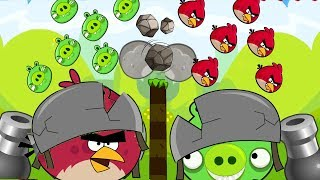 Angry Birds Collection Hacked 2 - OVERDRIVE SHOOTING AND THROWING STONE TO BAD PIGS!