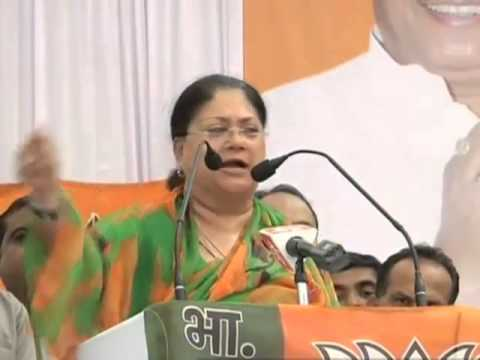 CM Raje campaigns in Maharashtra, woos voters by speaking in Marathi