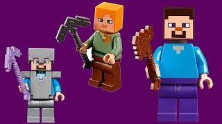 minecraft house building challenge with LEGO   lego minecraft world moc