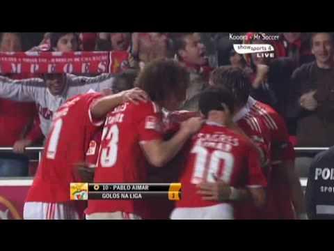 المعلق المصرى محمود ابو الركب Benfica vs Sporting Lisbon 2 0 Pablo Aimar