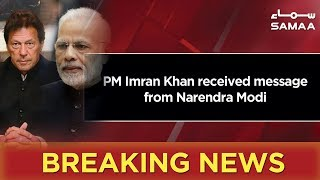 Breaking News   PM Imran Khan received message from Narendra Modi   22 March 2019