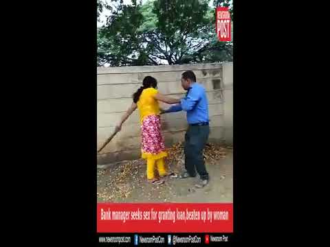 Xxx Mp4 Woman Thrashes A Bank Manager For Sexual Favors In Karnataka Video Viral 3gp Sex