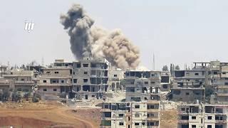 استمرار القصف الجوي والصاروخي العنيف على حي طريق السد ومخيم درعا