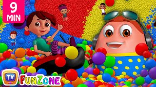 Learn Colours, Alphabets & Numbers | Surprise Eggs Ball Pit Show for Kids | ChuChu TV Funzone 3D