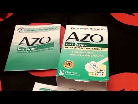 AZO UTI Test Strips for at home Urinary Tract Infections.. Results in 2 minutes