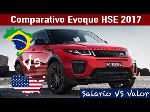 Comparativo Range Rover Evoque 2017 -