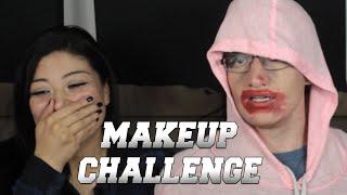 GIRLFRIEND DOES MY MAKEUP CHALLENGE!