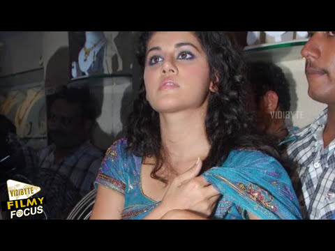 Shocking: Fan Pulled Tapsee's Saree in public!! - Filmy Focus