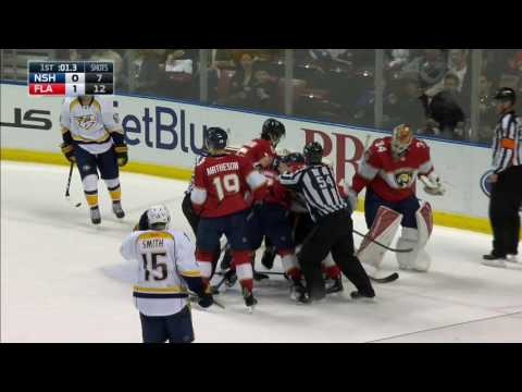 Gotta See It Predators & Panthers don't get along fight 3 times