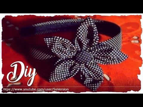Tutorial Autunno Cerchietto per Capelli con Fiore in Stoffa ♥ DIY Hairband with Fabric Flower