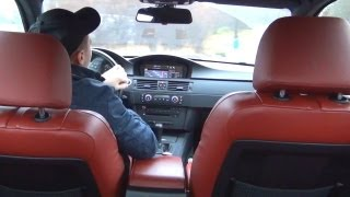BMW M3 E92 - Donuts Drift ´s Onboard Inside - V8 Sound ESP OFF DSC OFF + Enter the Highway Autobahn