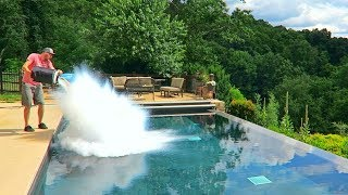 What Happens If You put 30L of Liquid Nitrogen in the Pool?