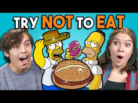 Try Not To Eat Challenge Simpsons Food People Vs. Food
