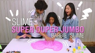 SLIME SUPER DUPER JUMBO BARBIE SLIME !! Bareng Babas & Roma