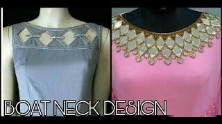 boat neck design (latest ever)