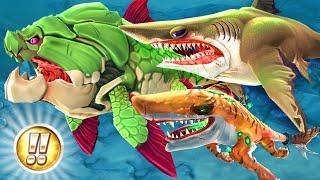 ALL HUGE '!!' SHARKS MONTAGE!! - Hungry Shark World | Ep 23