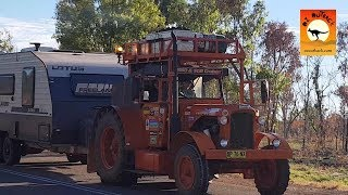 Chamberlain Tractors towing caravans around Australia! - Fitzroy Crossing, Western Australia