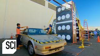 Crushing a Car with the Domino Effect | MythBusters Jr.