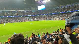 Manchester City Fans Celebrating 5th Goal Before Var System Cancel The Goal