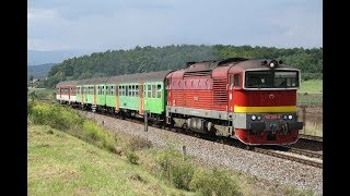 ESK063831 Slovensko osobné vlaky lokomotiva ZSSK 750 Brille tren de pasajeros călători putnički vlak