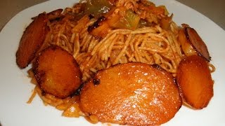 Easy Spaghetti with crispy potatoes! Persian style ماکارونی
