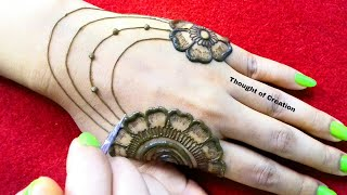 Easy Jewellery Mehndi Design for Beginners |Thought of Creation