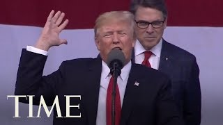 President Trump Brags About Election Victory & Bashed Media During Boy Scout Jamboree Speech   TIME
