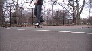 Toe flip one foot nollie late heel out ( New skateboard trick? )